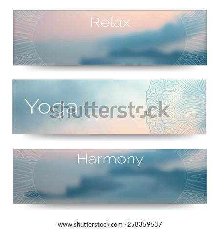 Yoga Vector Banner Professional Templates Or Design For Studio