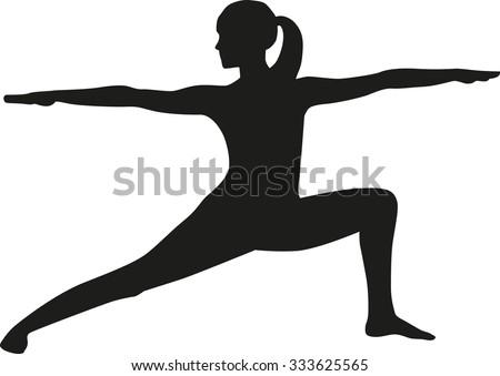Yoga Silhouette Warrior 1