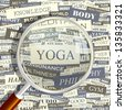 YOGA. Word collage. Vector illustration. - stock vector