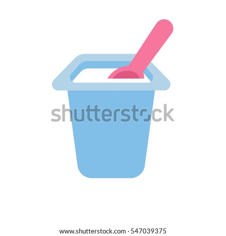 yogurt container with a spoon