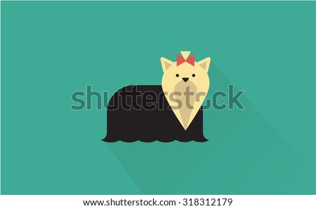 yorkshire terrier icon - stock vector