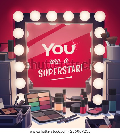 You are a superstar! Vector illustration. - stock vector