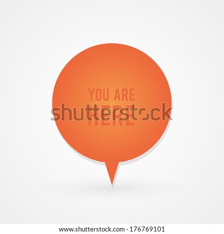 You are here button - stock vector