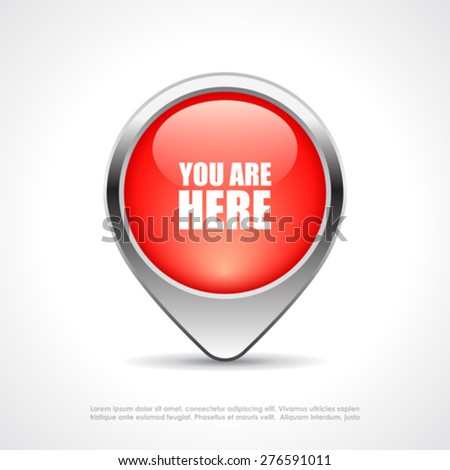 You are here map marker - stock vector