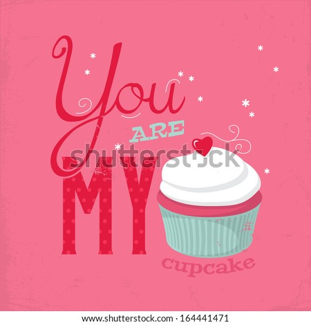 Valentines Cupcakes For Holiday Vector Photos RoyaltyFree – Cupcake Valentine Card