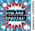 You Are Special! card banner tag background - stock