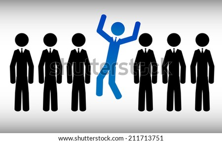You are the one. It is a stick figure vector. EPS10  - stock vector