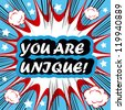 You Are Unique! card banner tag - stock
