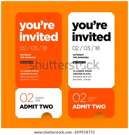 Business Invitation Template Stock Images, Royalty-Free Images
