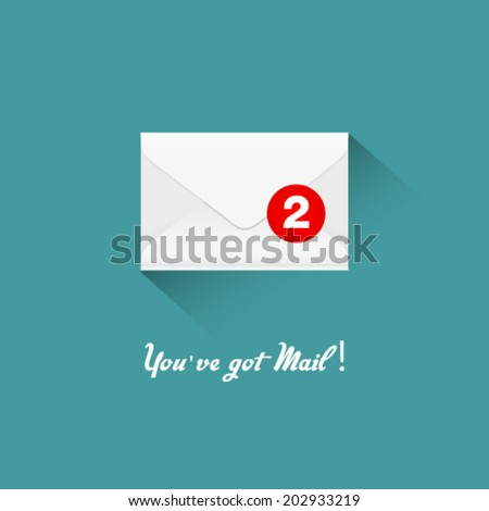 You've got mail, vector illustration - stock vector