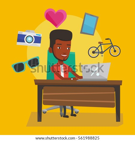 type digital marketing show skill icon stock vector 269340179 shutterstock. Black Bedroom Furniture Sets. Home Design Ideas