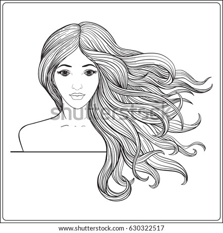 Long Hair Coloring Pages Coloring Pages