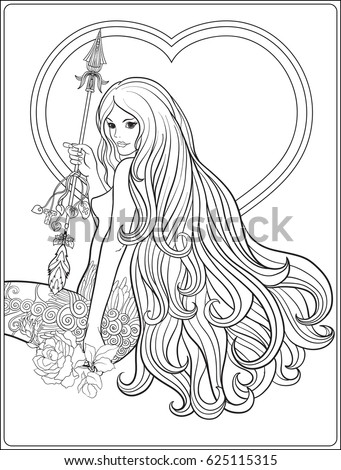 Outlined Beautiful Fairy Sparkles