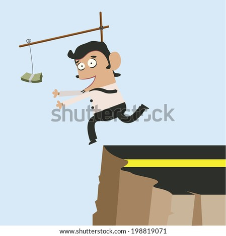Young Business and Money on Trap  - stock vector