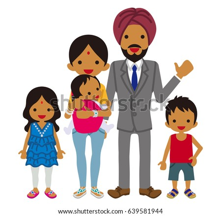 young indian family clip art stock vector 639581944 shutterstock rh shutterstock com clip art family service clip art family tree maker