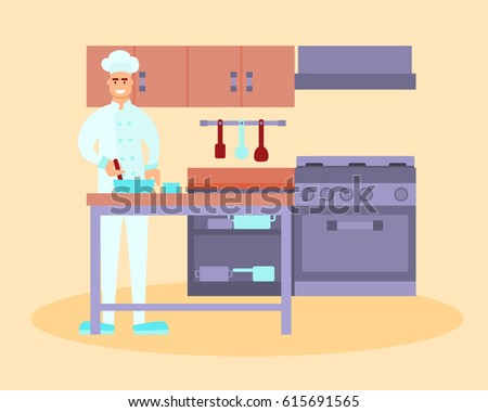 Restaurant Kitchen Illustration restaurant employees stock vectors, images & vector art | shutterstock