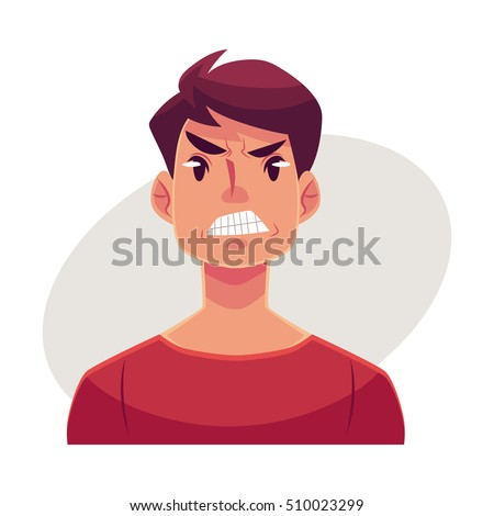 Upset Cartoon Face Clip Art at Clker.com - vector clip art ...