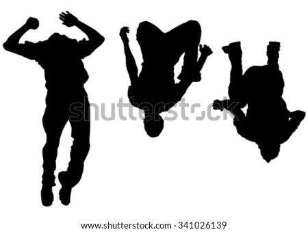 Young man in a jump on white background - stock vector