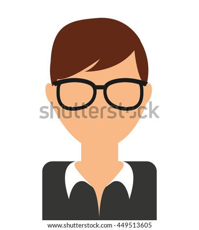 young man  isolated icon design, vector illustration  graphic