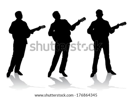 Plucked instrument stock photos illustrations and vector art