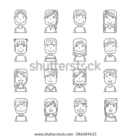 Young people avatar silhouette graphic design, vector illustration