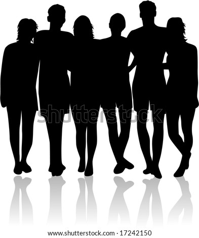 Young people  - friend - stock vector
