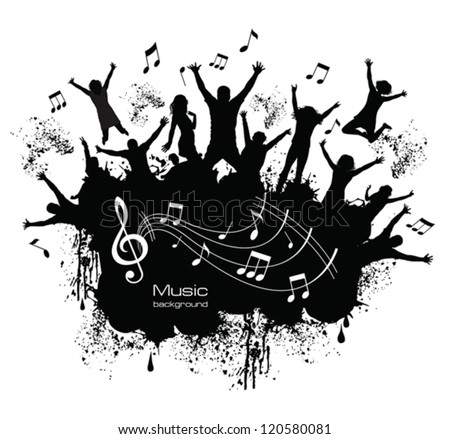 Young people on the party . - stock vector