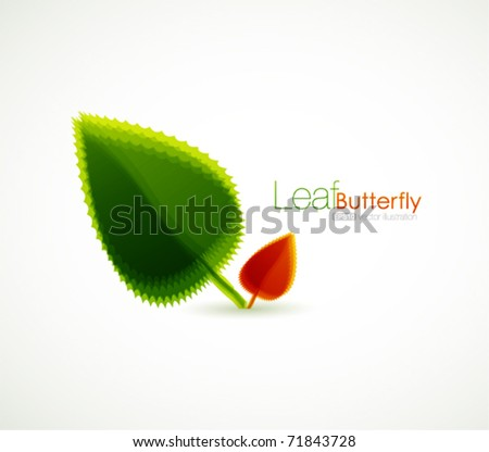 Young plant vector background - stock vector