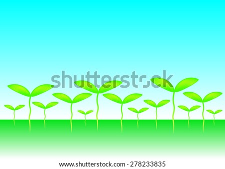 Young plant, vector illustration