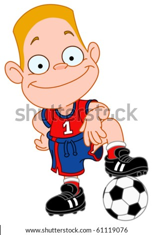 Young soccer player - stock vector