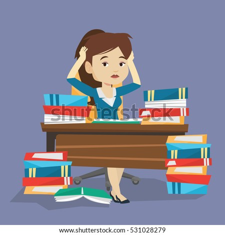 Studying hard stock images royalty free images vectors young stressed student studying with textbooks caucasian female student studying hard before exam desperate thecheapjerseys Image collections