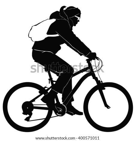 Young woman on a bike trip