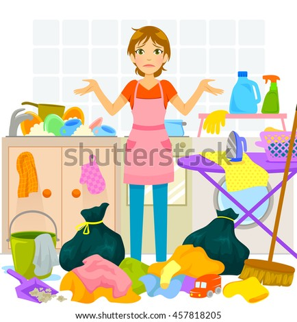 Clip Art Messy House And Home Design