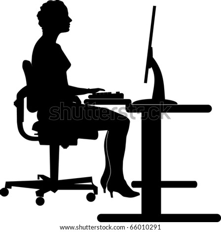 young woman running her own business - stock vector