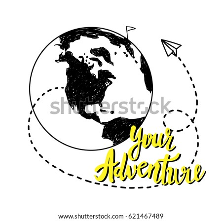 World map sketch stock images royalty free images vectors your adventure drawing by hand childrens drawing world map geographical map gumiabroncs Images