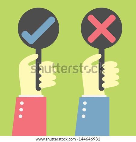 your choice true or false - stock vector