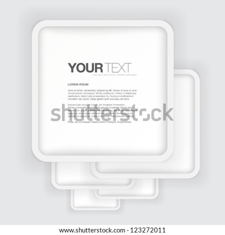 Your rounded greyscale text box background design vector - stock vector