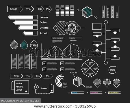 Your Scalable and Adjustable Eps10 Vector Infographics Set for Your Digital Presentation - stock vector