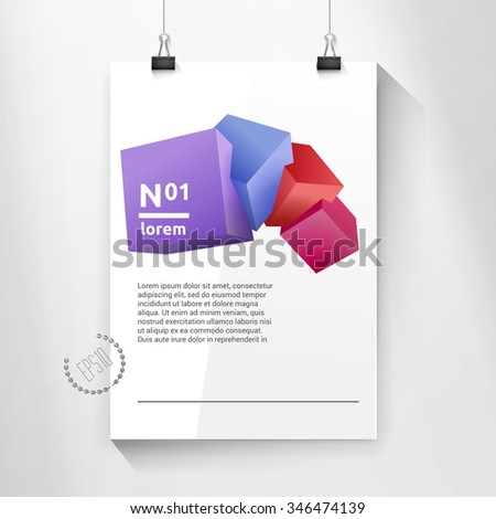 Your Scalable and Adjustable Geometric Eps10 Vector Design Content  - stock vector