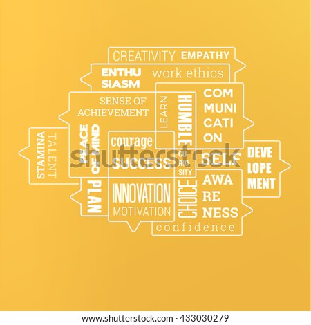 Your Stack Infographics Vector Design Words About Success - stock vector
