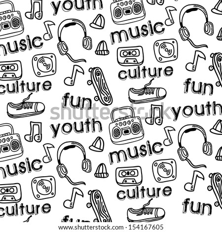 youth culture design over white background vector illustration   - stock vector