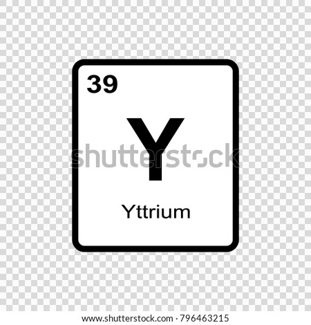 Vector symbol yttrium periodic table elements stock vector yttrium chemical element sign with atomic number chemical element of periodic table urtaz Images