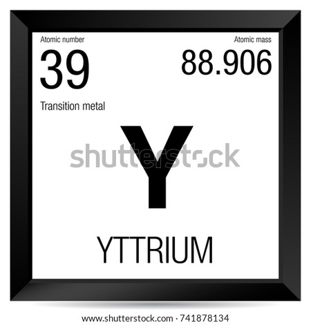 Yttrium symbol element number 39 periodic stock vector 741878134 yttrium symbol element number 39 of the periodic table of the elements chemistry urtaz Images