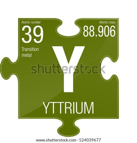 Yttrium Symbol Element Number 39 Periodic Stock Photo Photo Vector