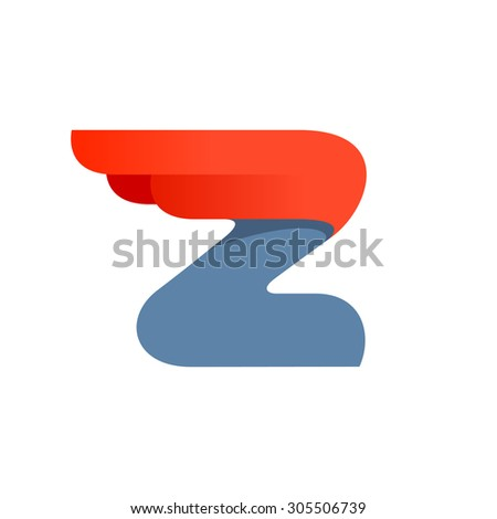 Z letter logo design template. Second version. Fast speed vector unusual letter. Vector design template elements for your application or company. - stock vector