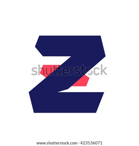 Z letter run logo design template. Vector sport style typeface for sportswear, sports club, app icon, corporate identity, labels or posters. - stock vector