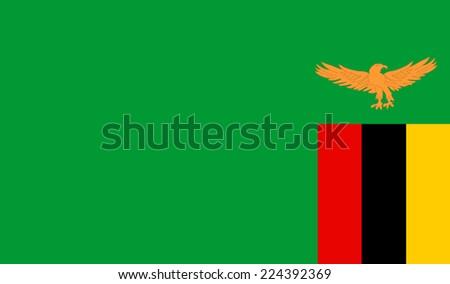 Zambia flag vector. - stock vector