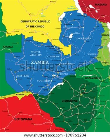 Zambia map vectores en stock 190961204 shutterstock zambia map gumiabroncs Gallery