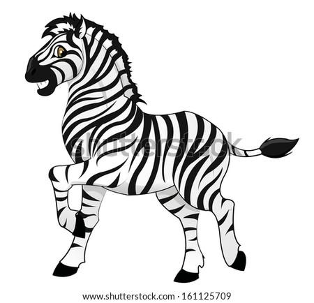 zebra - stock vector