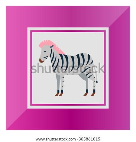 Zebra icon - stock vector